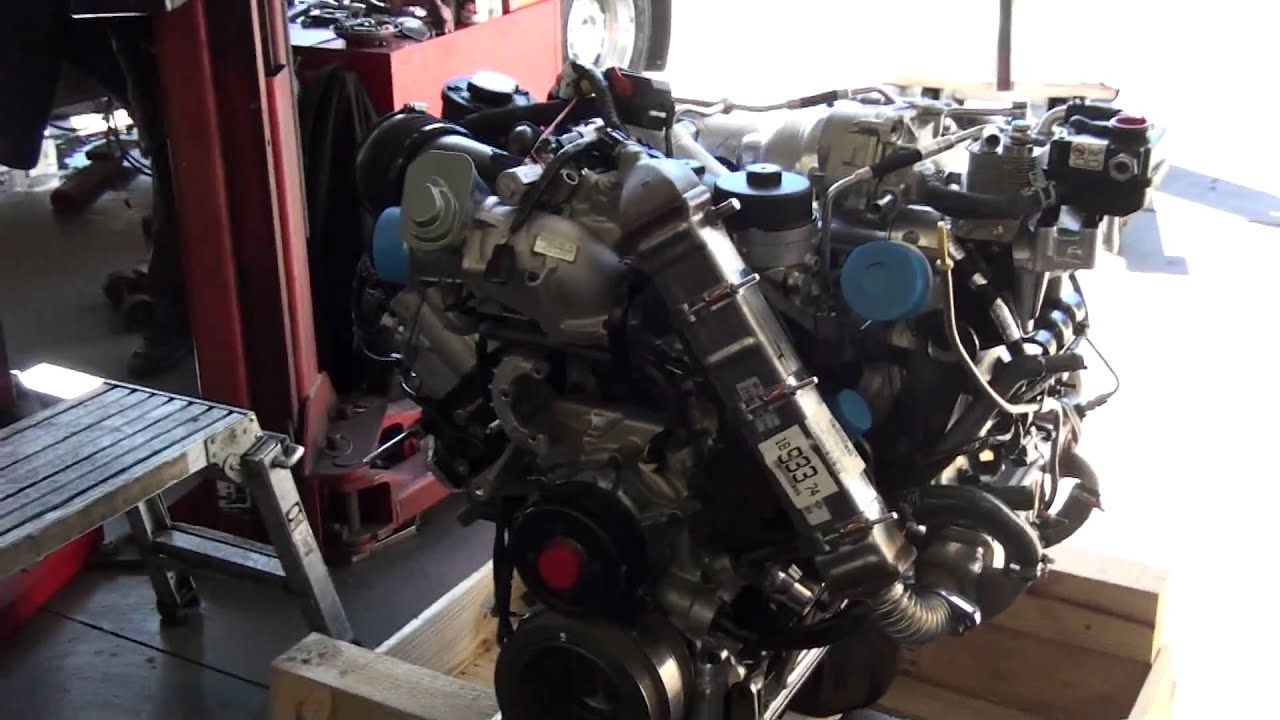 REMOVING FORD 64L DIESEL ENGINE  YouTube