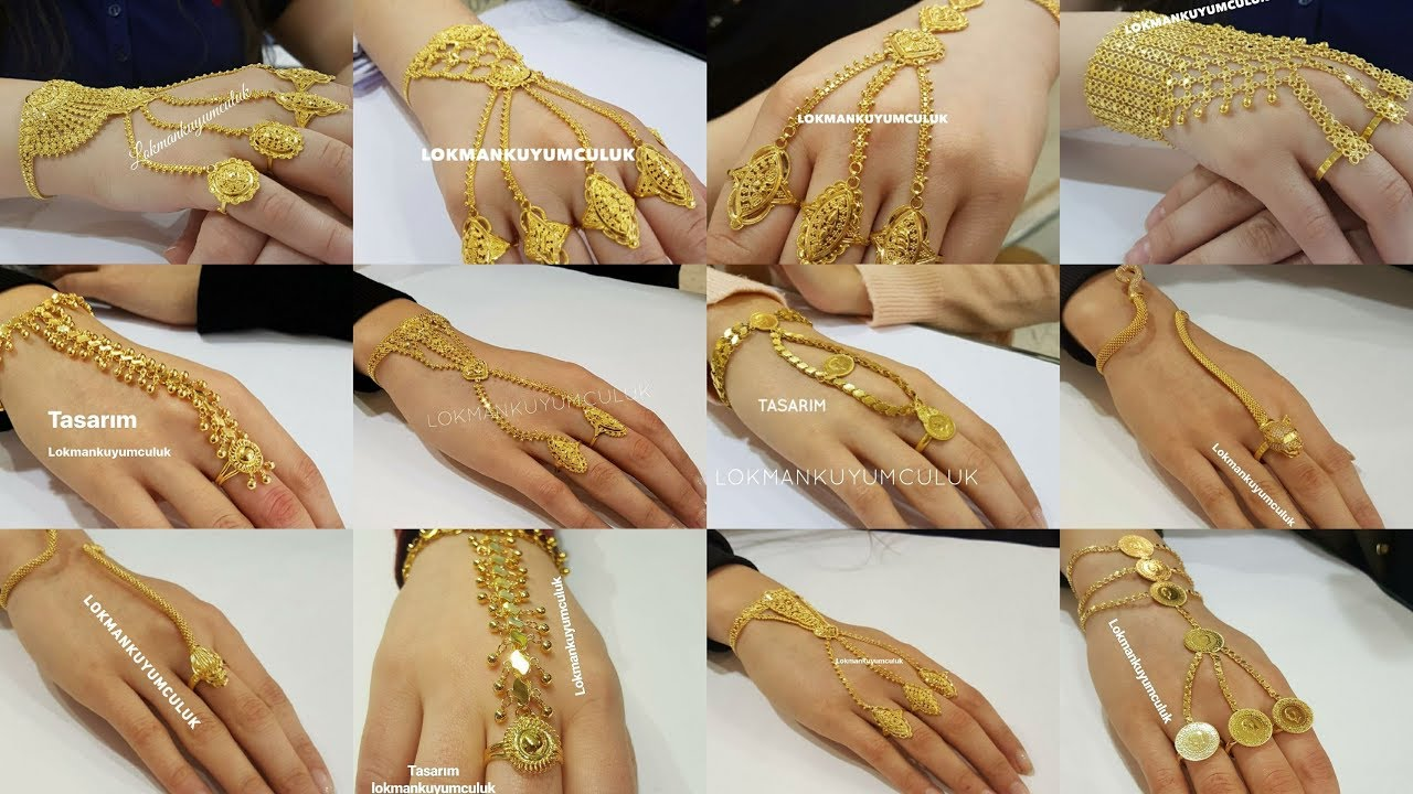 Gold Rings Chain Bracelets Panjangla Designs With Weight Youtube