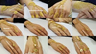Gold Rings Chain Bracelets ||PANJANGLA|| Designs with WEIGHT