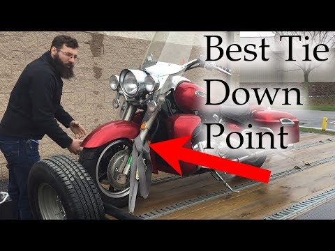 How to Tie down your Motorcycle (the right Way) Tank Straps
