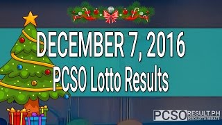 PCSO Lotto Results December 7, 2016 (6/55, 6/45, 4D, Swertres & EZ2)