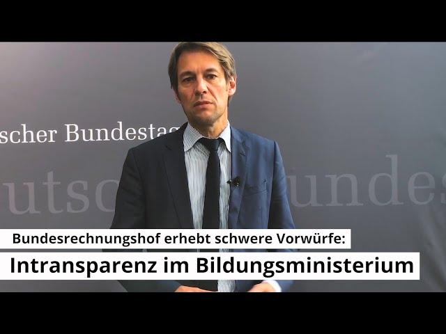 Bundesrechnungshof erhebt schwere Vorwürfe: Intransparenz im Bildungsministerium