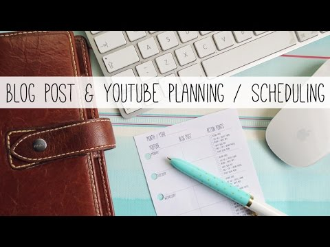 Thinking Of Starting A Blog Blog Post Video Planning Scheduling