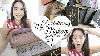 DECLUTTER MY MAKEUP COLLECTION + GIVEAWAY 2017! EPISODE #7 EYESHADOW PALETTES