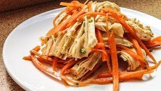 Салат из соевой спаржи и моркови(Салат из соевой спаржи и моркови. Этот салат самодостаточное, полноценное блюдо. Благодаря соевой спарже,..., 2014-06-19T02:23:04.000Z)