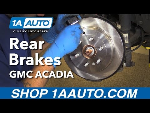 How to Replace Rear Brakes 07-16 GMC Acadia