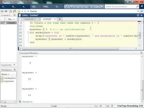 Basics Of Writing For Loops In MATLAB