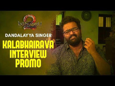 MM Keeravani's son, Baahubali 2 singer Kaala Bhairava Interview Promo || Dandalayya Singer