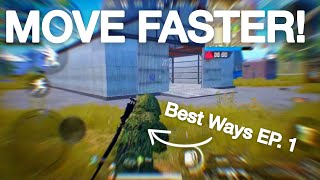 PUBG Mobile How To Move Faster (Escape from your enemies)!
