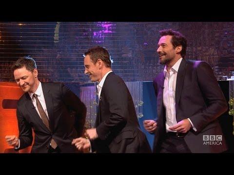 HUGH JACKMAN, MICHAEL FASSBENDER & JAMES McAVOY's Blurred Lines Dance - The Graham Norton Show BBCA