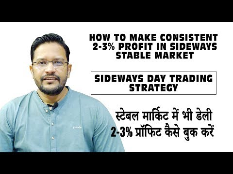 How to Make consistent 2-3% Profit in Cryptocurrency & Bitcoin Sideways Stable Market.