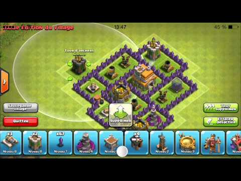 Village hdv 7 Clash of clans (défensif) Tuto Fr