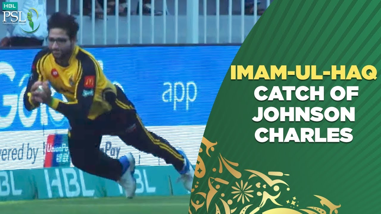 Imam-ul-Haq catch of Johnson Charles | 24th Feb | HBL PSL 2019
