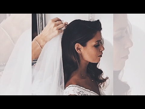 How to Wear Wedding Veil With Your Hair Down . Как закрепить фату на ...