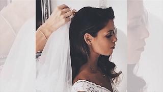 How to Wear Wedding Veil With Your Hair Down . Как закрепить фату на распущенных волосах ?