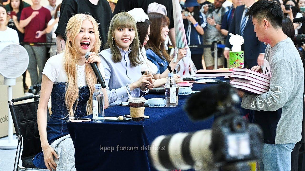 (BLACKPINK) photobook fan signing event Ending Fancam 4K