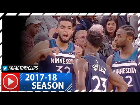 Andrew Wiggins, Karl-Anthony Towns & Jimmy Butler Highlights vs Spurs (2017.10.18) - Butler's Debut!