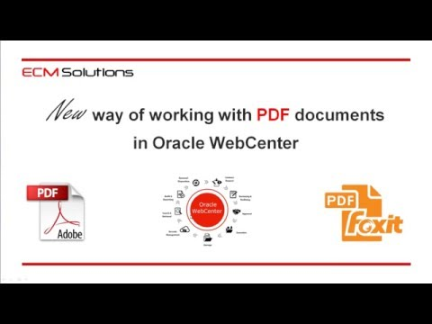 New way of working with PDF documents in Oracle WebCenter