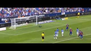 Lionel Messi Second Goal - CD Leganes vs Barcelona 0-4 La Liga Santander 2016
