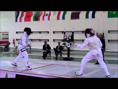 2014 Arab Fencing Championship Junior & Cadet - Women Team Event Foil (QAT vs UAE)
