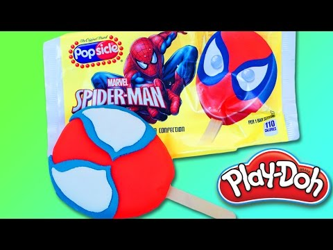 Play Doh Spiderman Popsicle DIY | Play Doh Toys