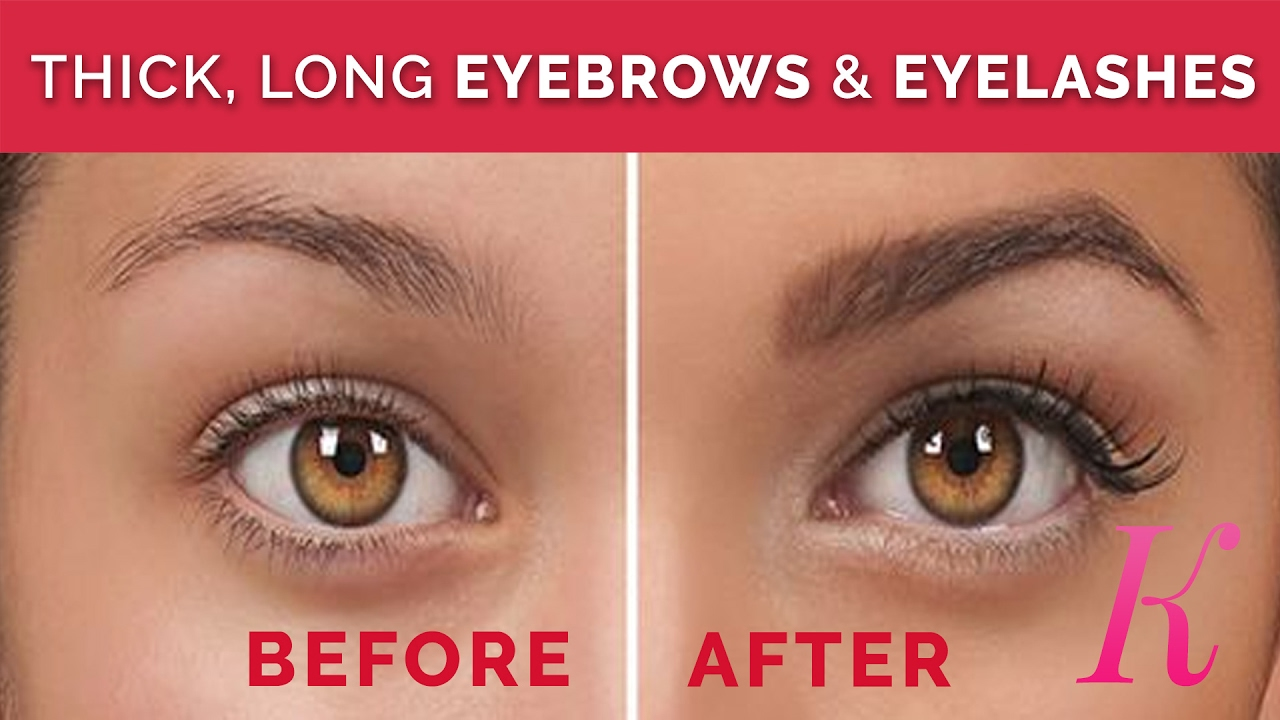 How To Grow Thick Long Eyebrows Eyelashes Fast Naturally Home