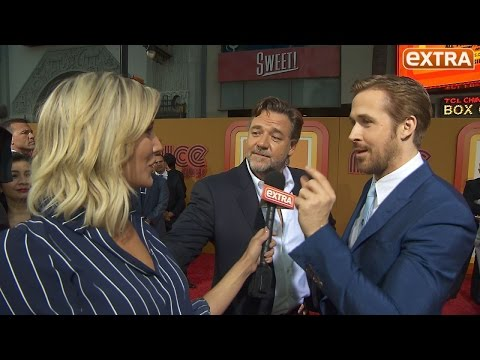 Ryan Gosling Says Russell Crowe Is Cooler Than Him at 'The Nice Guys' Premiere