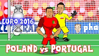 Cristiano Ronaldo sings HURT (Poland vs Portugal Parody Highlights Penalties 1-1)(Ronaldo misses)
