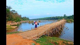 ลุยลาว EP19:เซละนอง บ้านชนเผ่ามะกอง(โส้) ขัวหรือสะพานไม้ไผ่ที่ยาวที่สุดในลาว