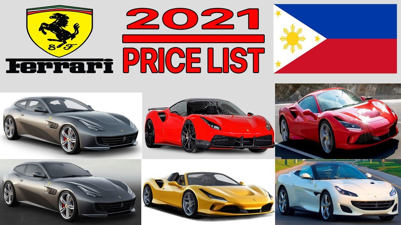 Ferrari Price List In Philippines 2021 Youtube