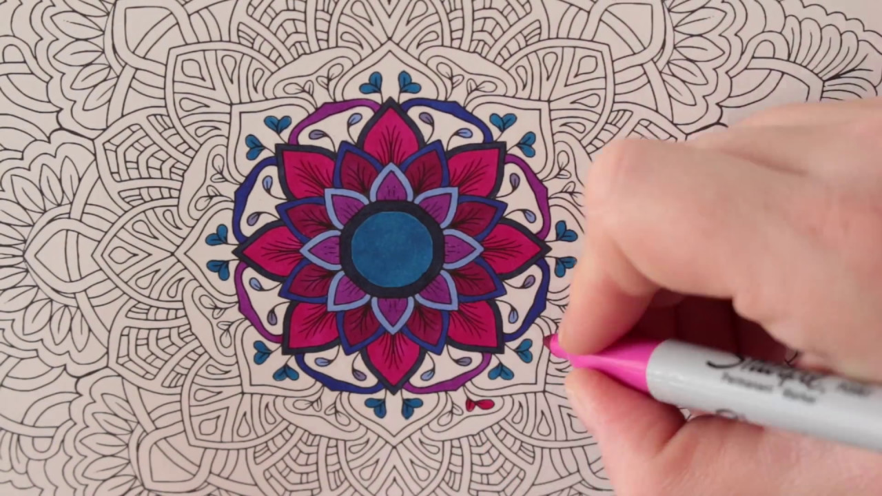 STOP MOTION MANDALA COLORING BOOK MEDITATIVE GARDEN