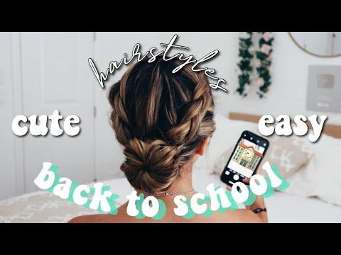 BACK TO SCHOOL HAIRSTYLES | CUTE N EASY! thumbnail