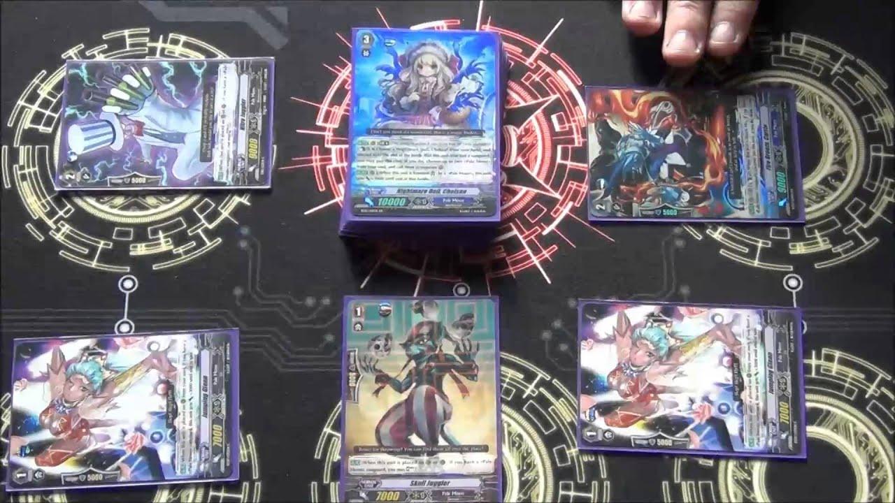 Cardfight!! Vanguard - Deck Profile: Pale Moon Chelsea/Eva - YouTube