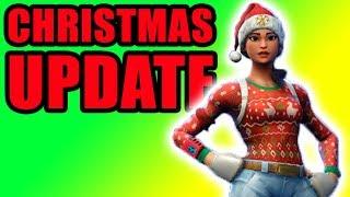 New Christmas Update! 🎁 Fortnite Battle Royal (BR) New Winter Update Gameplay
