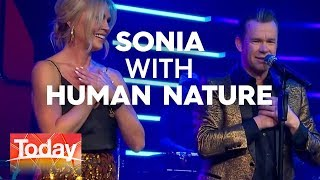 Sonia's spontaneous spin with Human Nature | TODAY Show Australia