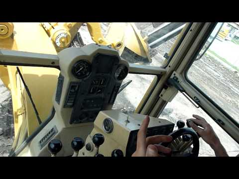 Cat 140H Motor Grader Controls - YouTube