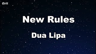 New Rules - Dua Lipa Karaoke 【With Guide Melody】 Instrumental