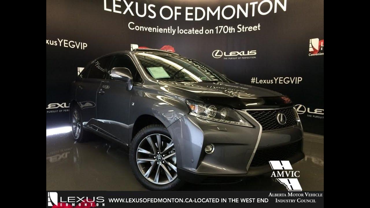 Lexus Certified Pre Owned 2015 Grey RX 350 AWD F Sport In Depth Review |  Bonnyville Alberta