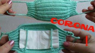 Örgü corona maske yapımı & örgü maske modeli