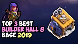 TOP 3 Best Builder Hall 8 (BH8) Base 2019   Anti 2 Star   Base Clash of Clans