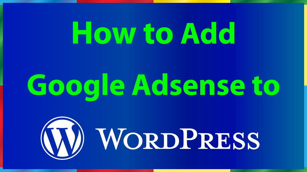 how to connect wordpress site to adsense