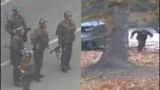 RAW footage North Korea soldier Escaping SHOT @ DMZ Breaking News November 2017