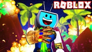Becoming Thanos And Destroying Everyone In Roblox Superhero Simulator