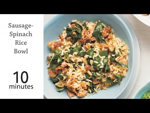 How to Make a Sausage Spinach Rice Bowl | MyRecipes
