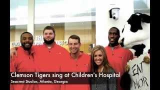 Clemson Football Team Sings Alma Mater