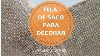 TELA DE SACO PARA DECORAR. DESCUBRE MIL IDEAS... ⭐⭐⭐⭐⭐