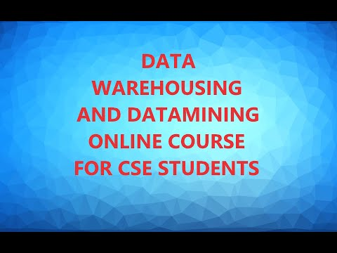 INTRODUCTION TO COURSE:DATA WAREHOUSING AND DATA MINING