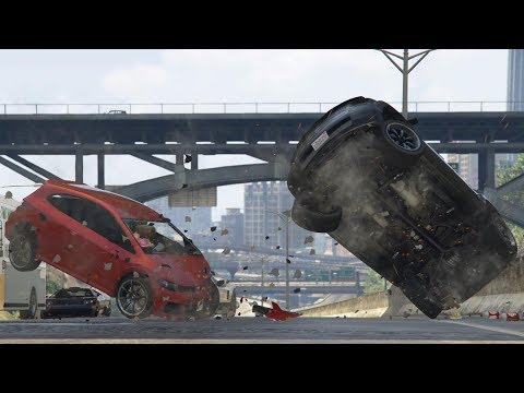 GTA 5 BRUTAL CAR CRASHES COMPILATION!!! #3 thumbnail