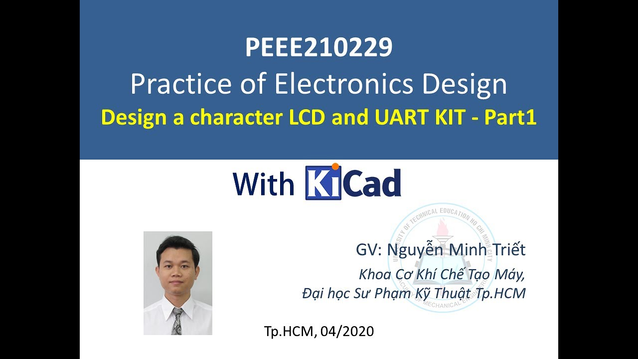 [PEEE210229] – Design a character LCD and UART KIT – Part1