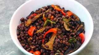 Chinese Stir-fried Adzuki Beans With Shiitake - Vegan Vegetarian Recipe